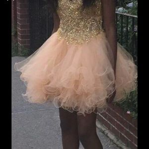 Champagne Gold Prom / Homecoming Dress